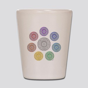 seven chakra circle Shot Glass