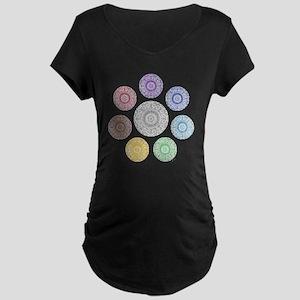 seven chakra circle Maternity Dark T-Shirt