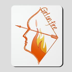 Girl on Fire Mousepad