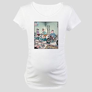 Exercise Motorbike Maternity T-Shirt