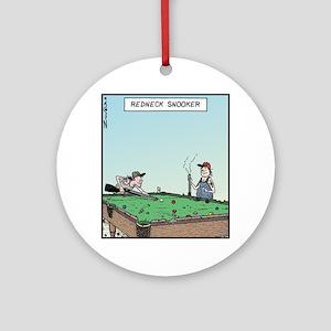 Redneck Snooker Round Ornament