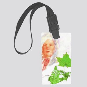 maple spring solo Large Luggage Tag