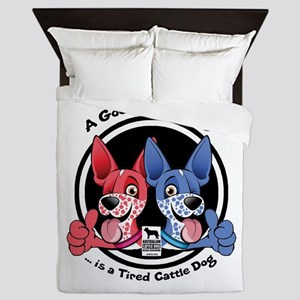Tired Cattle Dog Queen Duvet