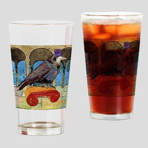 showerCurtainWellRaven Drinking Glass