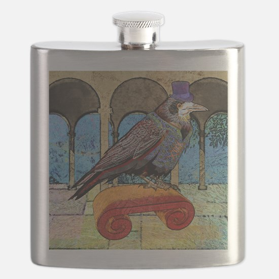 showerCurtainWellRaven Flask