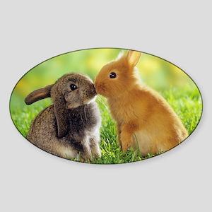 Love Bunnies Sticker (Oval)