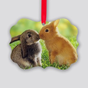 Love Bunnies Picture Ornament