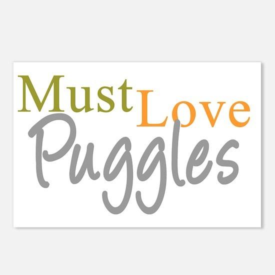 mustlovepuggles_black Postcards (Package of 8)