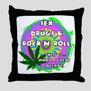 THE 70S WHAT A GREAT DECADE Throw Pillow