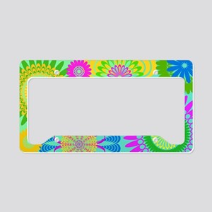 70s Rhapsody Floral License Plate Holder