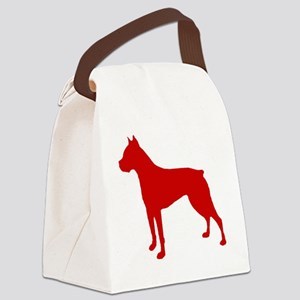 Boxer Red Canvas Lunch Bag