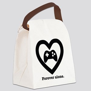 Forever Alone Gamer. Canvas Lunch Bag