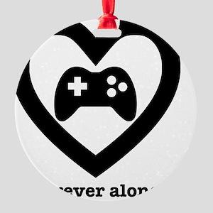 Forever Alone Gamer. Round Ornament
