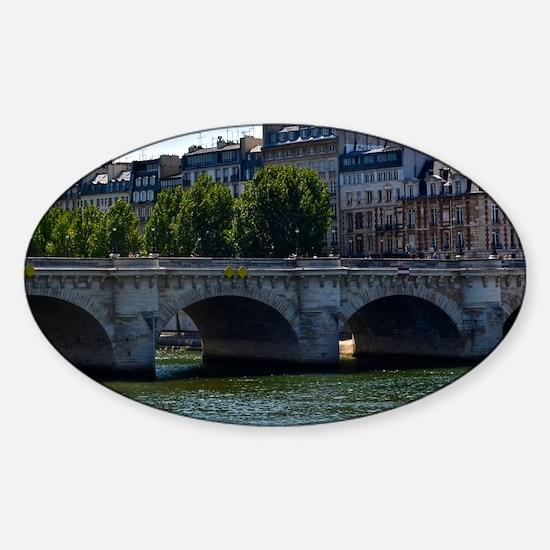 Pont Neuf Sticker (Oval)