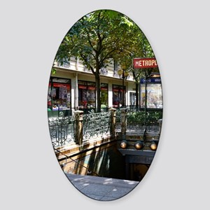 Paris Metro Sticker (Oval)