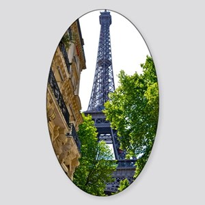 Eiffel Tower Sticker (Oval)