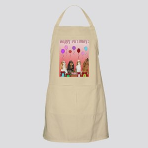 Birthday Celebration Card With Dogs Apron
