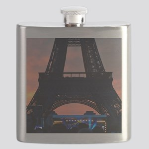 Eiffel Tower at Sunset, Bastille Day Flask