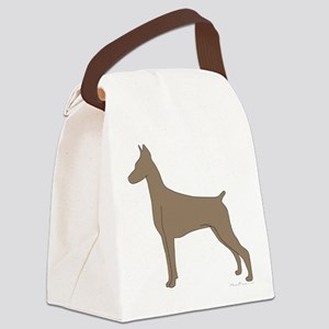 FawnDoberman Canvas Lunch Bag