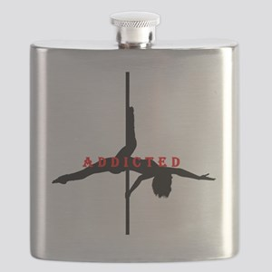 Addicted Black/Red Flask