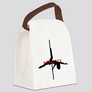 Addicted Black/Red Canvas Lunch Bag