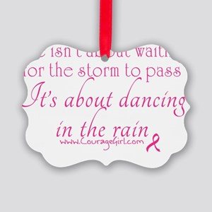 Dancing in the Rain Picture Ornament