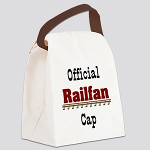 Official Railfan Cap Canvas Lunch Bag