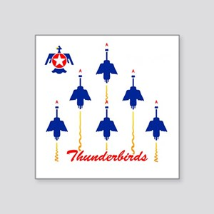 "Thunderbirds Square Sticker 3"" x 3"""