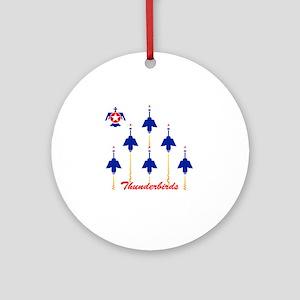 Thunderbirds Round Ornament