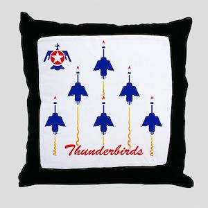 Thunderbirds Throw Pillow