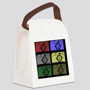 Colorful Camera Canvas Lunch Bag