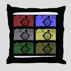 Colorful Camera Throw Pillow