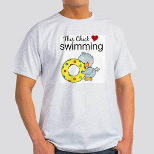 This Chick Loves Swimming Light T-Shirt