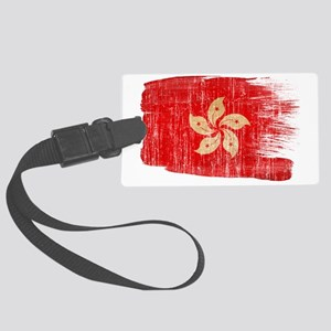 Hong Kongtex3-paint style aged c Large Luggage Tag