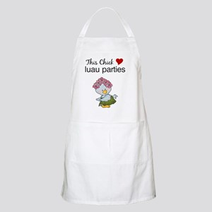 This Chick Loves Luau Parties Apron