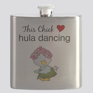 This Chick Loves Hula Dancing Flask