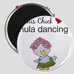 This Chick Loves Hula Dancing Magnet