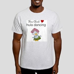 This Chick Loves Hula Dancing Light T-Shirt