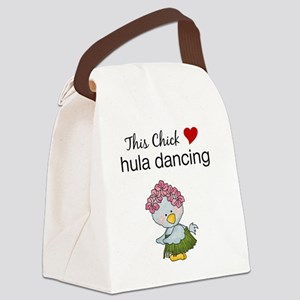 This Chick Loves Hula Dancing Canvas Lunch Bag