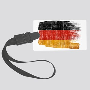 Germanytex3-paint style aged cop Large Luggage Tag