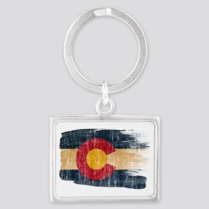 Coloradotex3-paint style aged c Landscape Keychain