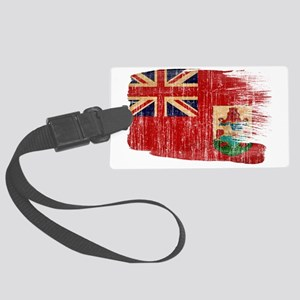 Bermudatex3-paint style aged cop Large Luggage Tag