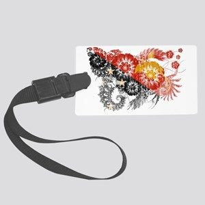 Papua New Guinea textured flower Large Luggage Tag