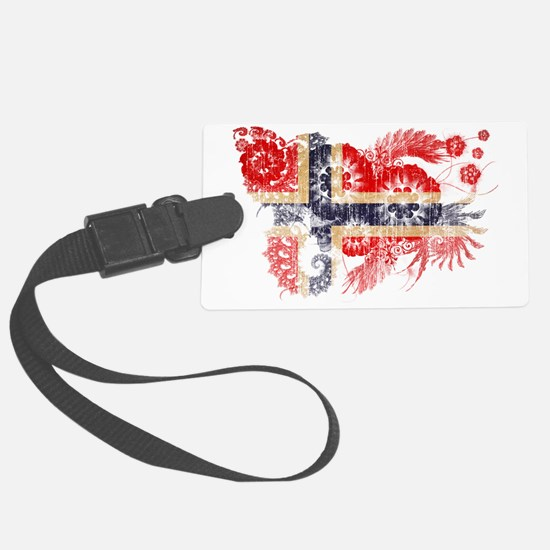 Norway textured flower aged copy Luggage Tag