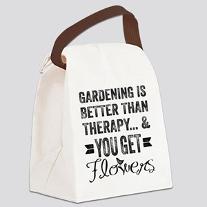 Gardening Better Than Therapy Canvas Lunch Bag