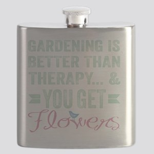 Gardening Better Than Therapy Flask