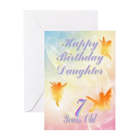Flower fairy birthday card for daughter age 7 Gree