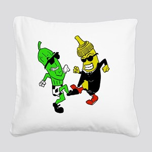 Mustard Pickle Square Canvas Pillow