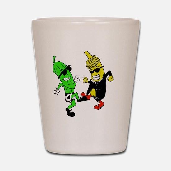 Mustard Pickle Shot Glass