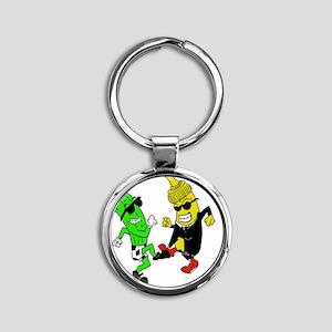 Mustard Pickle Round Keychain